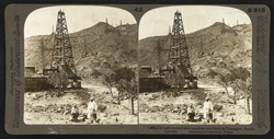 Oil wells worked with American machinery at Yanangyet, Burma